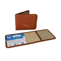 LEATHER BADGE WALLET