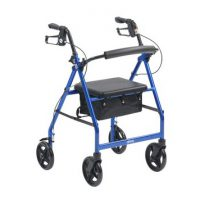 4 WHEEL WALKER BLUE